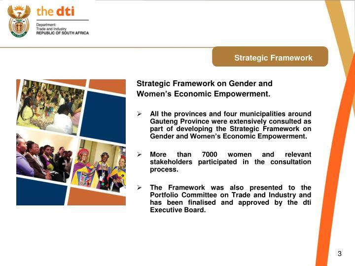 Strategic Framework on Gender and