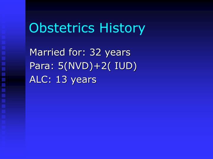 Obstetrics History