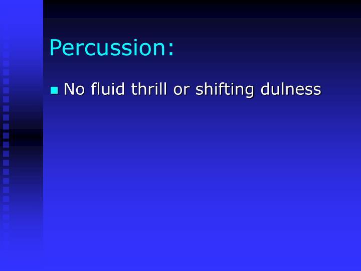 Percussion: