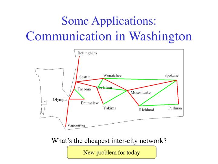 Some applications communication in washington