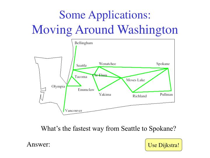 Some applications moving around washington