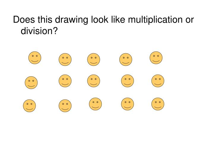 Does this drawing look like multiplication or division?