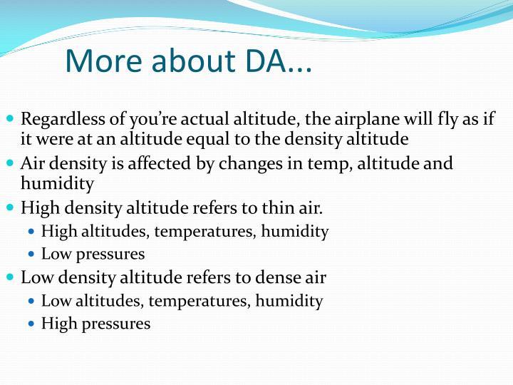 More about DA...