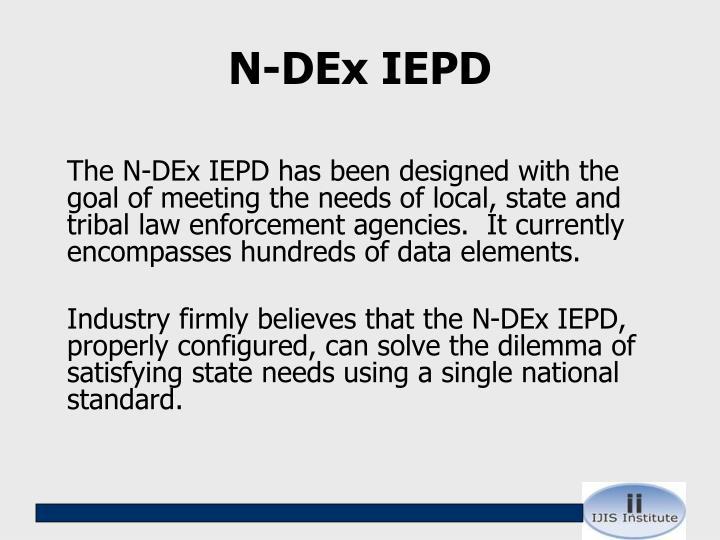 N-DEx IEPD