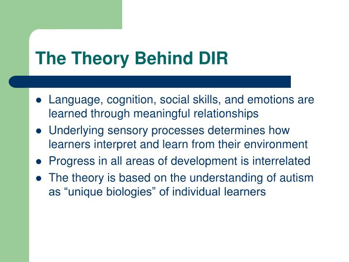Ppt A Review Of The Dir Floortime Model For Autism