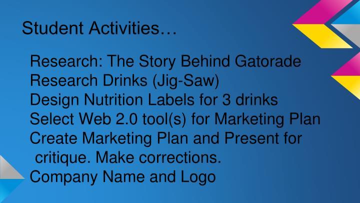 Student Activities…