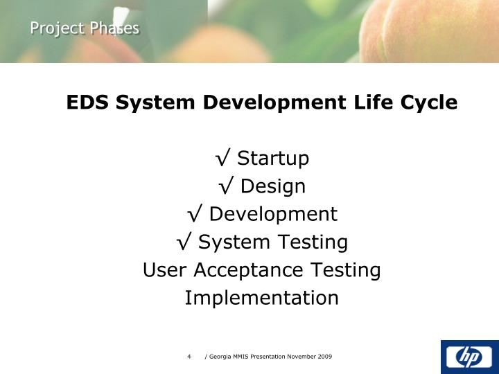 EDS System Development Life Cycle