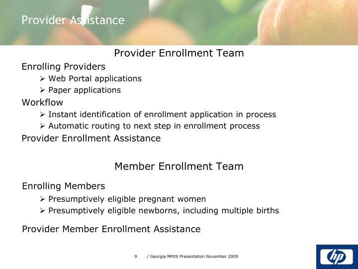Provider Enrollment Team