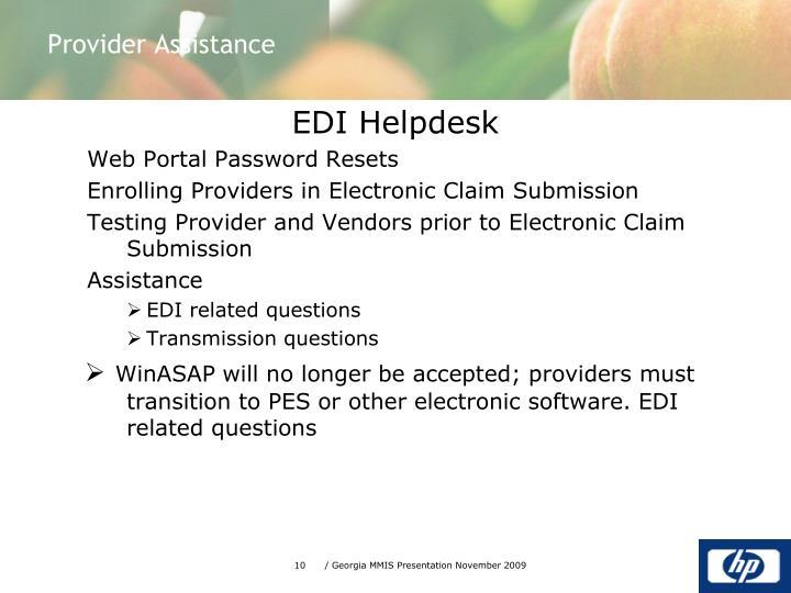 EDI Helpdesk