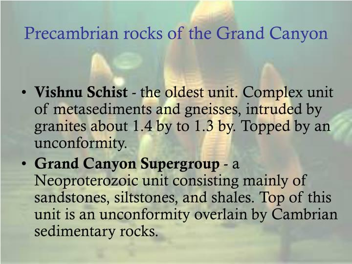 Precambrian rocks of the Grand Canyon