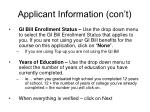 applicant information con t1