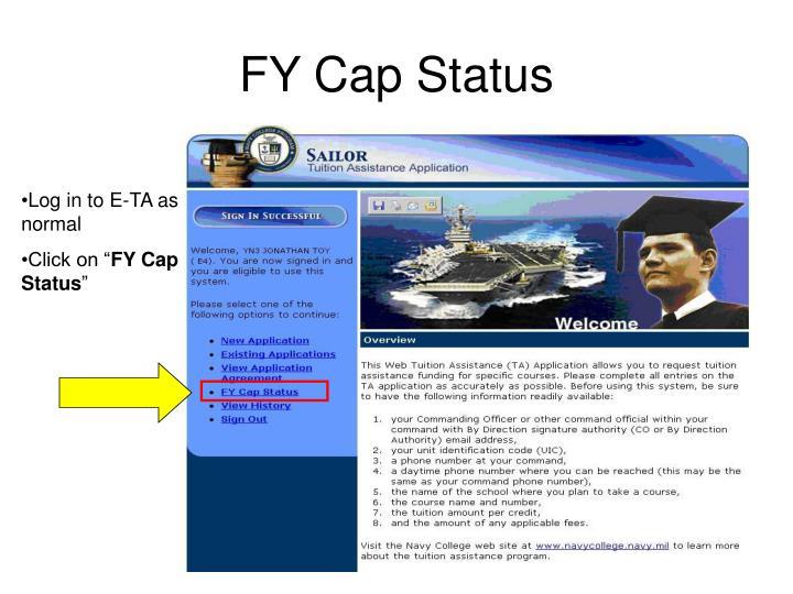 FY Cap Status