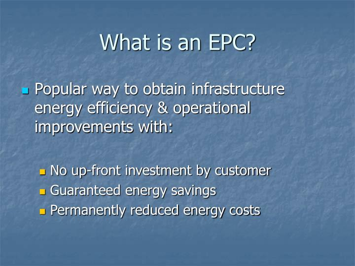 What is an EPC?