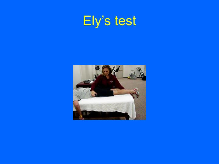 Ely's test