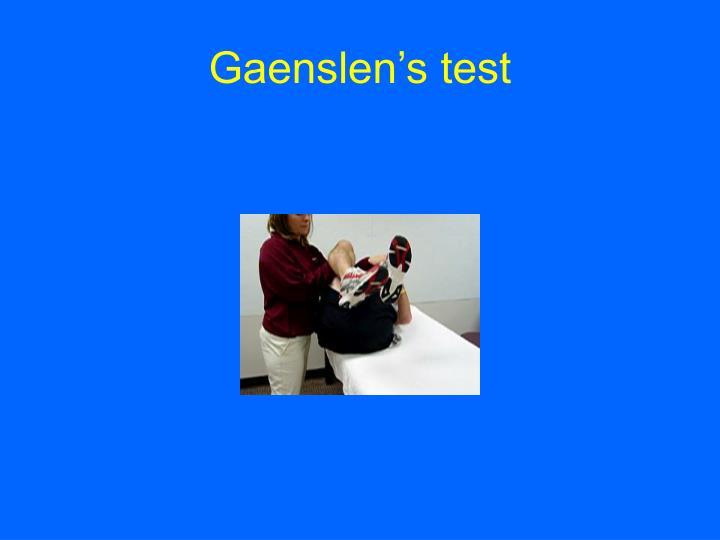 Gaenslen's test