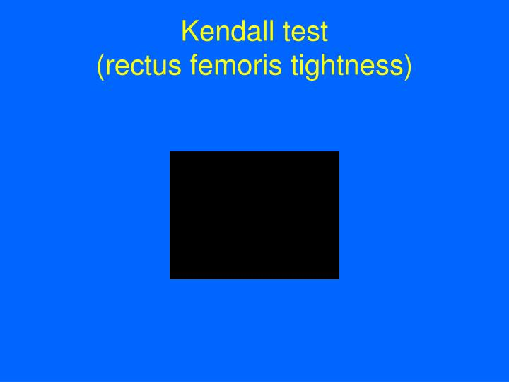 Kendall test