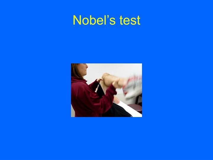 Nobel's test