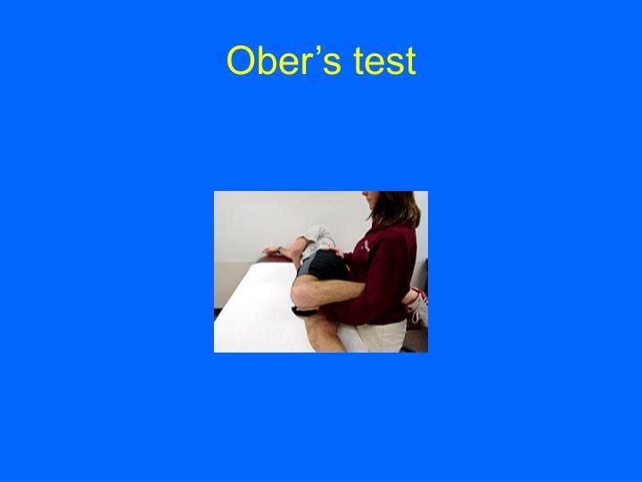 Ober's test