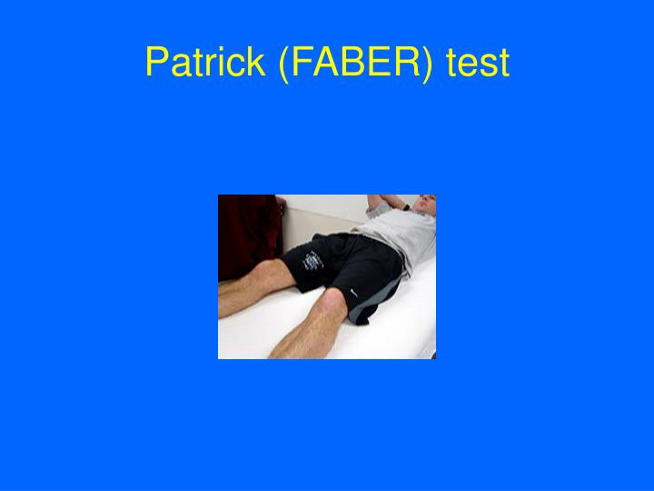 Patrick (FABER) test