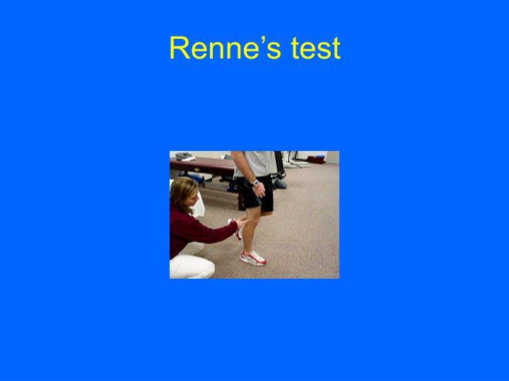 Renne's test
