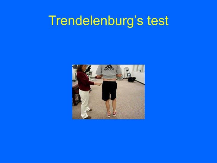 Trendelenburg's test