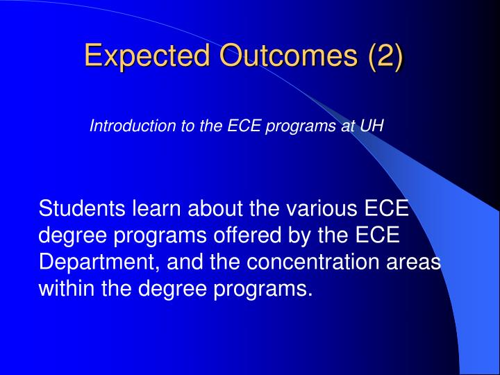 Expected Outcomes (2)
