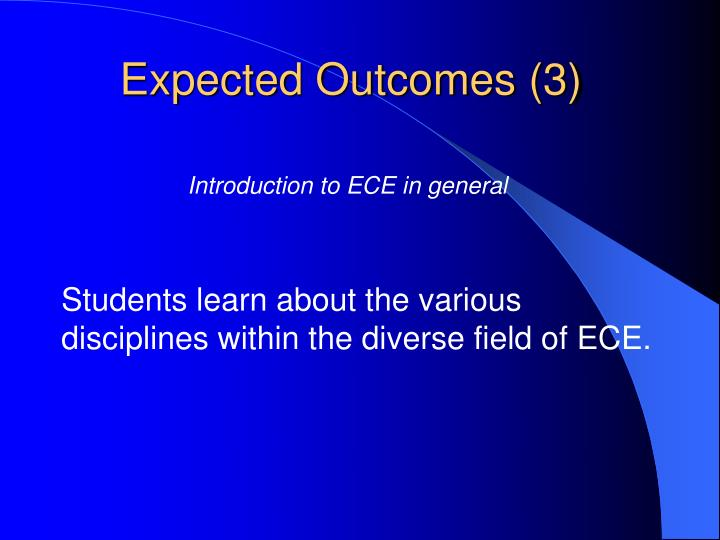 Expected Outcomes (3)