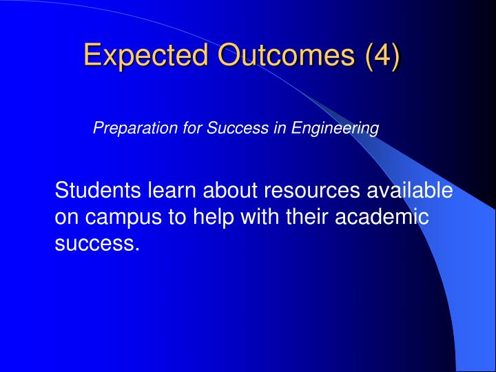 Expected Outcomes (4)