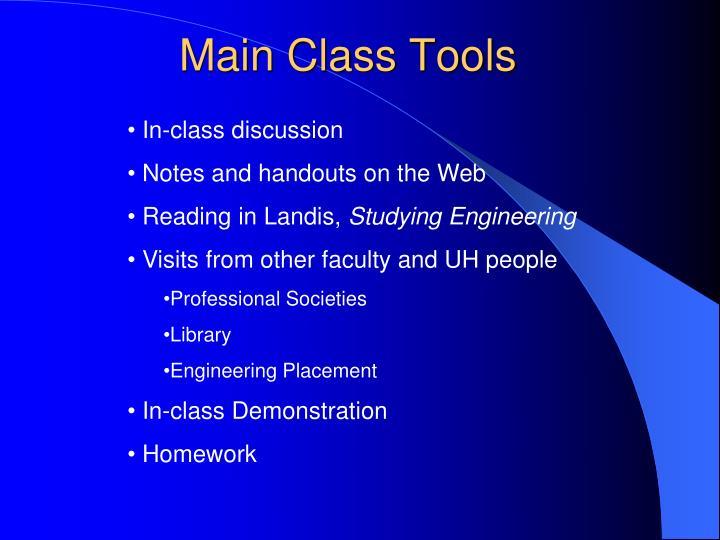 Main Class Tools