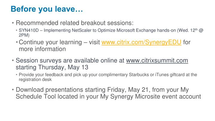 Recommended related breakout sessions: