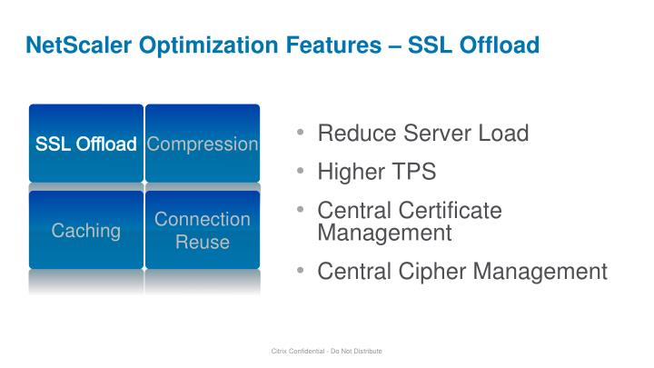 NetScaler Optimization Features – SSL Offload