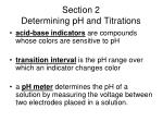 section 2 determining ph and titrations