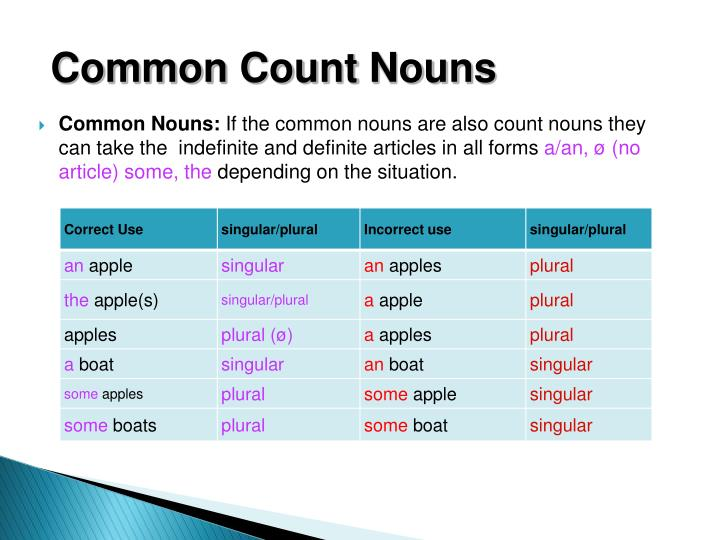 Common Count Nouns