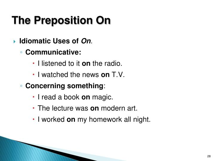 The Preposition On