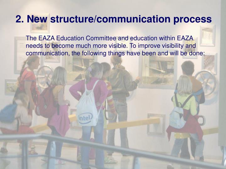 2. New structure/communication process