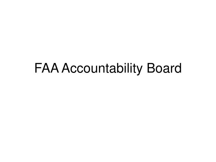 Faa accountability board