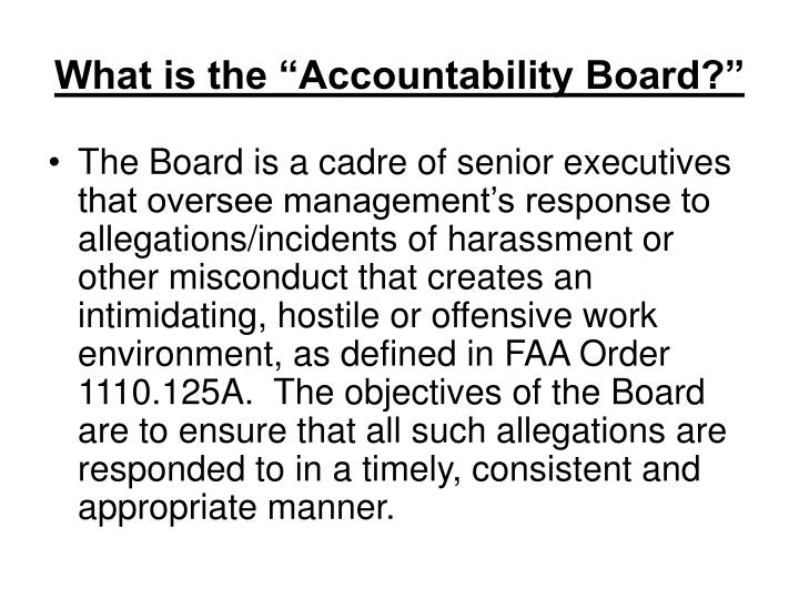 "What is the ""Accountability Board?"""