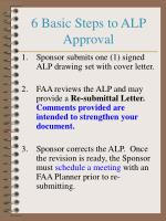 6 basic steps to alp approval
