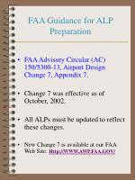 faa guidance for alp preparation