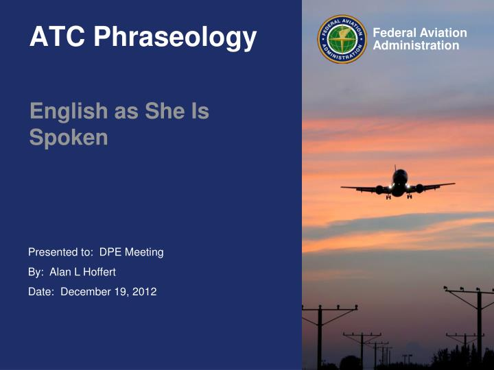 Atc phraseology