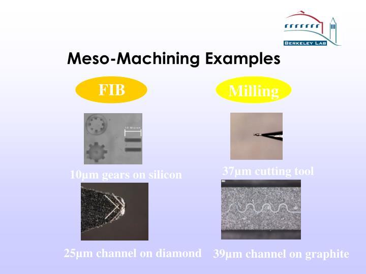 Meso-Machining Examples