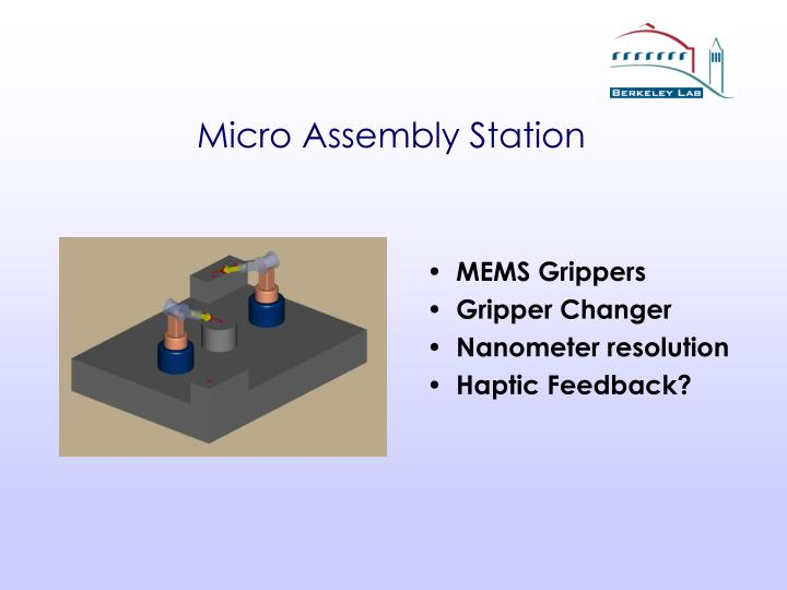 Micro Assembly Station