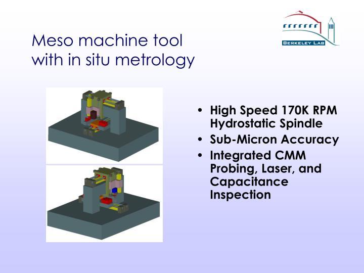 Meso machine tool
