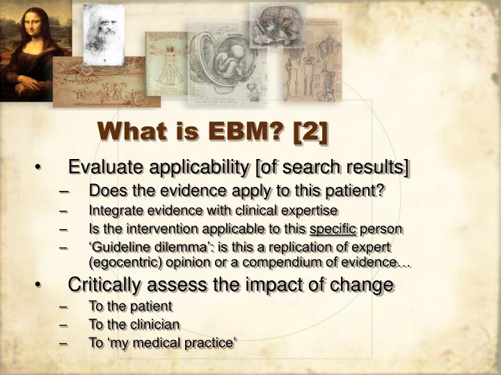 What is EBM? [2]