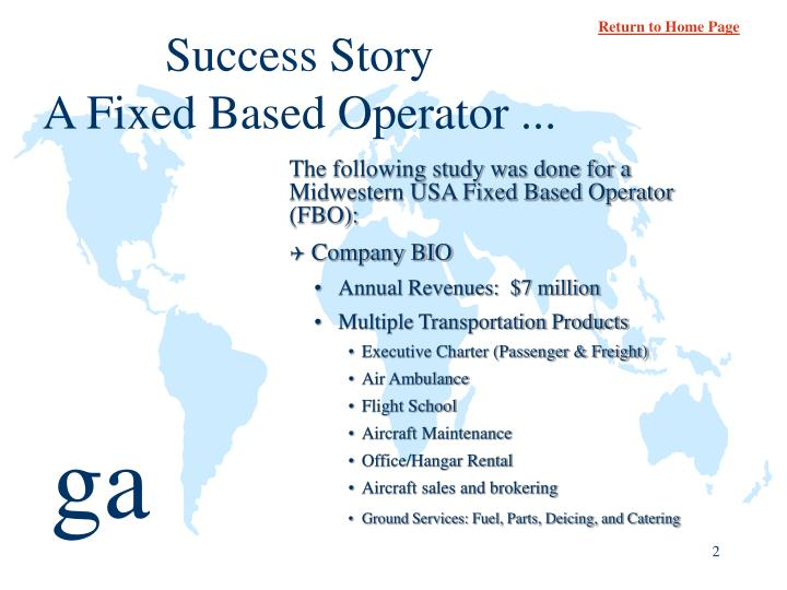 Success story a fixed based operator