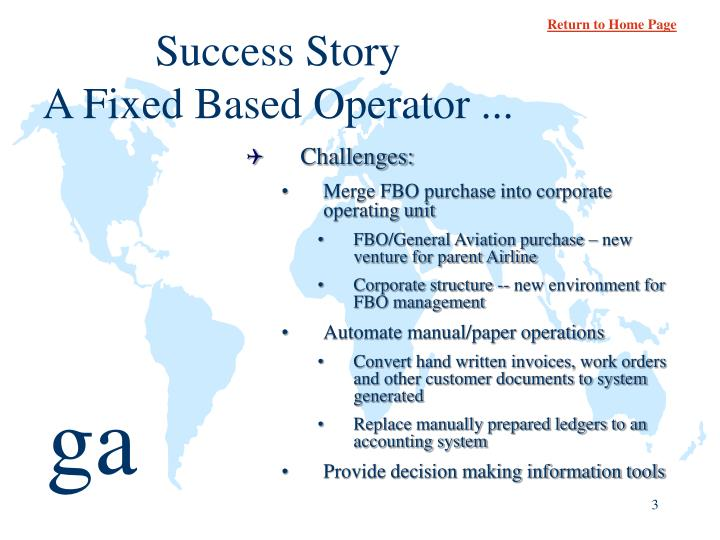 Success story a fixed based operator1