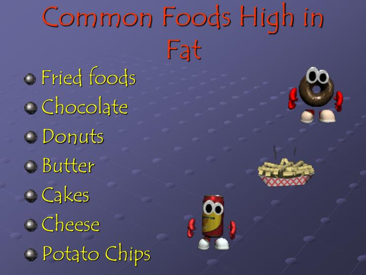 Common Foods High in Fat
