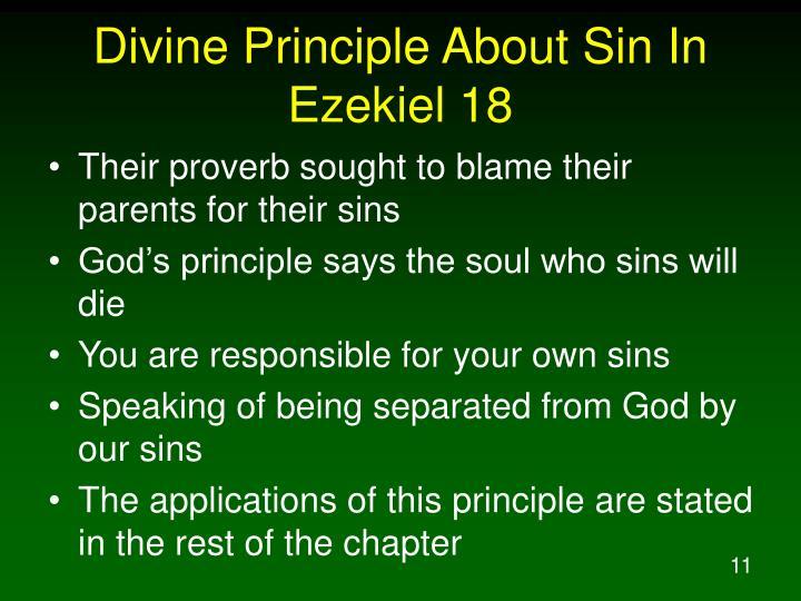 Divine Principle About Sin In Ezekiel 18