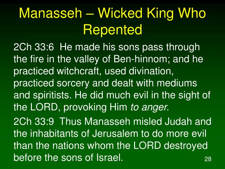 Manasseh – Wicked King Who Repented
