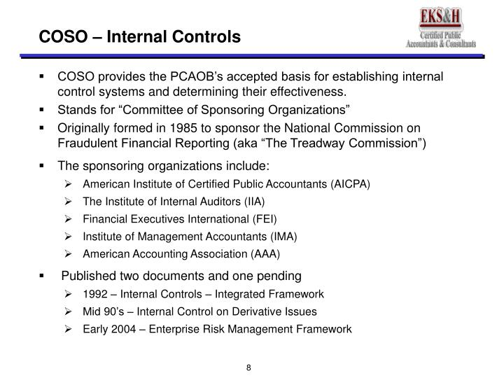 COSO – Internal Controls